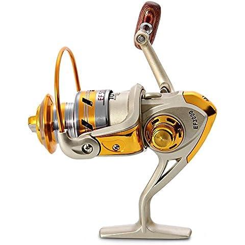 In alluminio, Mulinello da Pesca Bobina Spinning Mulinello da Pesca Pesca Linea ruota bilanciere Mulinello da Pesca, sinistra/destra intercambiabili ad alta velocità Mare Mulinelli da Spinning, 7000 Series