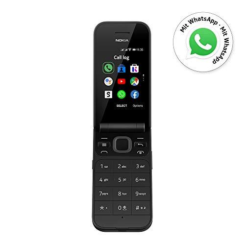 Nokia 2720 Flip Klapphandy (7,1cm (2,8 Zoll), 4GB Interner Speicher, 512MB RAM, Dual-SIM, KaiOS) schwarz