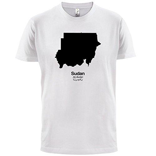 Sudan / Republik Sudan Silhouette - Herren T-Shirt - 13 Farben Weiß