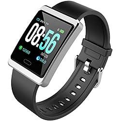 DIPOLA Y13 Smart Watch Sports Fitness Actividad Rastreador de Ritmo cardíaco Reloj de presión Arterial-Plata