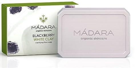 Madara Blackberry & White Clay Clarifying Face Soap für normale Haut, unreine Haut, ölige Haut / 70/Gramm (g)