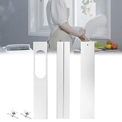 haodene Fenster Kit Platte Dreiteilige Window Kit Teleskopdichtung Rohrverbinder Für Abluftschlauch-Kit Einstellbar Eingebetteter Fensterdichtungssatz Für Tragbare Klimaanlagen Abluftschlauch-Kit