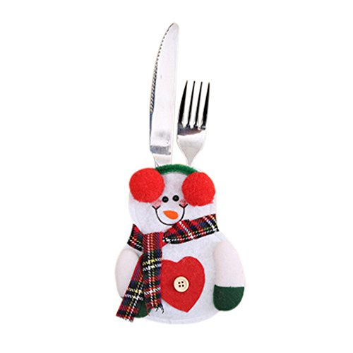 Sunnywill Décoration de Table de Noël, Ensemble Couteau et Fourchette de Noël