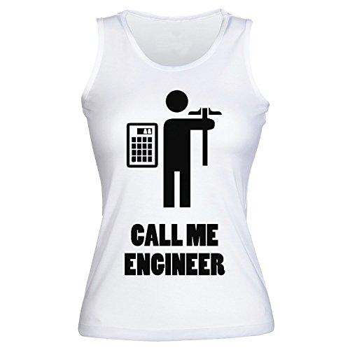 Call Me Engineer Repairing Devices Women's Tank Top Shirt Medium -