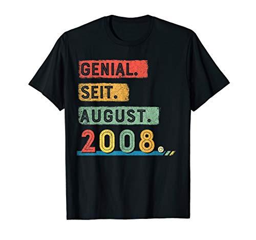 Genial Seit August 2008 tshirt Jahrgang 11 Jahre Geburstag -