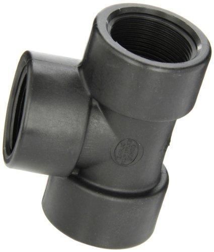 Banjo TEE125 Polypropylene Pipe Fitting, Tee, Schedule 80, 1-1/4
