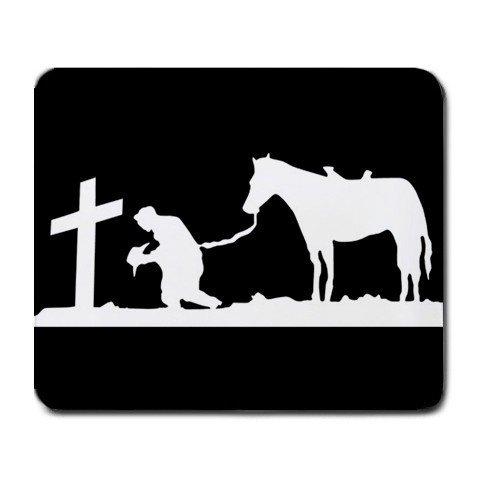 Cowboy betend bei Kreuz groß Mousepad Mauspad tolle Geschenkidee Cowboys-handy-fall