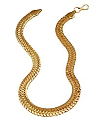 Charms Snake Collection Gold Plated Chain For Boys & Men