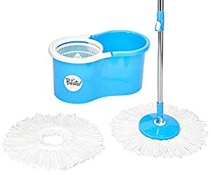 (Renewed) Amazon Brand - Presto! Spin Mop Set with Easy Wheels and Extra Mop Refill