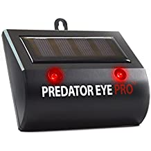 Repelente de Animales Salvajes Eye Predator Pro Solar con luz Led ultrabrillante Ojo Depredador Pro con Base