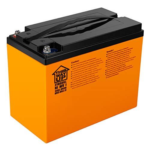 Preisvergleich Produktbild Exmate 12.8V 42AH LiFePO4 Versorgungsbatterie für Wohnmobil,  Wohnwagen,  Boot,  Golfwagen