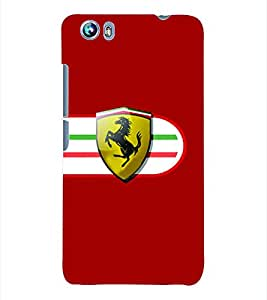 Fuson 3D Printed Car Designer Back Case Cover for Micromax Canvas Fire 4 A107 - D569