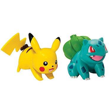 Pokémon - Jeux de Figurines - Figurine - Pikachu & Bulbizarre