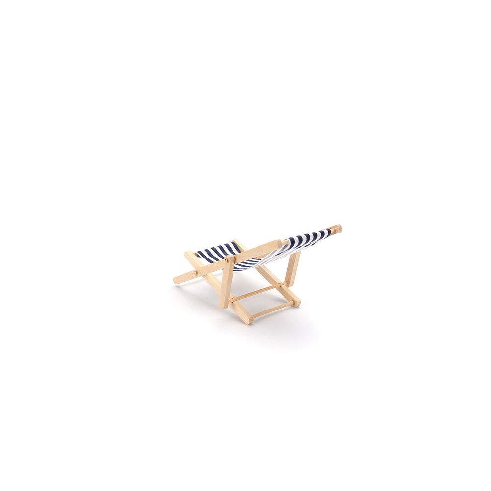 Sedia A Sdraio In Inglese.Miniature Beach Chair Toy House Mobili Accessori Pieghevole Mini Sedia A Sdraio A Righe Del Prato Inglese In Legno Per Dollhouse Blu 1pc