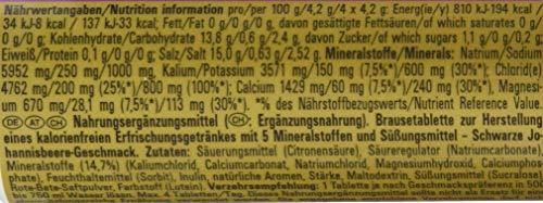 PowerBar Elektrolyte Tabletten 5 Electrolytes - Brausetabletten mit 5 Mineralstoffen - Erfrischender Drink mit Natrium, Chlorid, Kalium, Magnesium und Calcium - Schwarze Johannisbeere (12 x 10 Tabs)