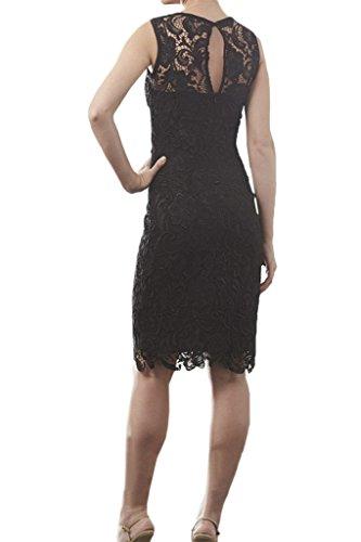 ivyd ressing Femme Haute Qualité col rond dentelle Étui lix-ws-801-f3044ligne Party robe Prom Lave-vaisselle robe robe du soir Schwarz
