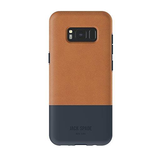 Jack Spade Color-Block Case Hülle für Samsung Galaxy S8 - Fulton Tan/Marineblau -