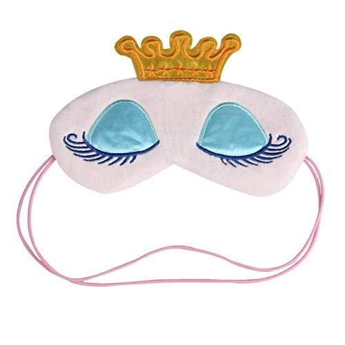 LEEDY süße Plüsch-Schlafmaske ❤ Augenmaske mit Cute Cartoon Muster, Augenmaske zum Schlafen, lindert Müdigkeit, leicht, atmungsaktiv, Augenbinde, Augenklappe für Männer Frauen Kind