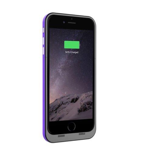 Ultra® 5.5 nero e Purple iphone 6 plus 6s plus Power Bank Charger Case per Plus 6800 mah 5.5 modelli di Apple iPhone 6 6s sottile ricaricabile esterna ricambio backup estesi charger batteria coperch nero, viola