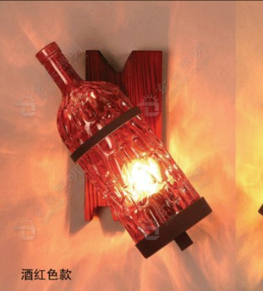 DZXYA Décor couleur loft industriel qui rappelle la bouteille de vin, vin rouge feux de mur