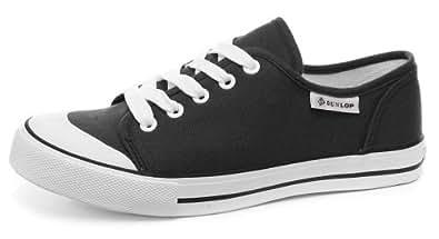 Dunlop Toile 5-œillet Homme Baskets / Sneakers, Noir, Pointure 46