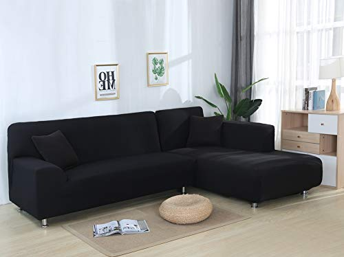 JiaQi Solid Color Sofa Cover, Stretch Fabric Protector for Sofas, Four Seasons Anti-mite Pet Protector Dog Cat Dust-L Seats of Love