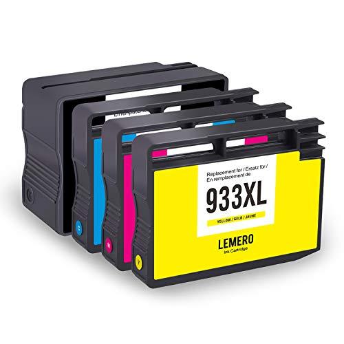 Druckerpatronen für HP 932XL 933XL für HP Officejet 6100 6600 6700 7110 7510 7512 7610 7612 Drucker (Schwarz Cyan Magenta Gelb) ()