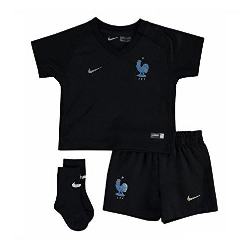 Nike FFF LK NK Dry Kit 3Rd Conjunto Equipación, Negro (Black/Metallic Silver), XL