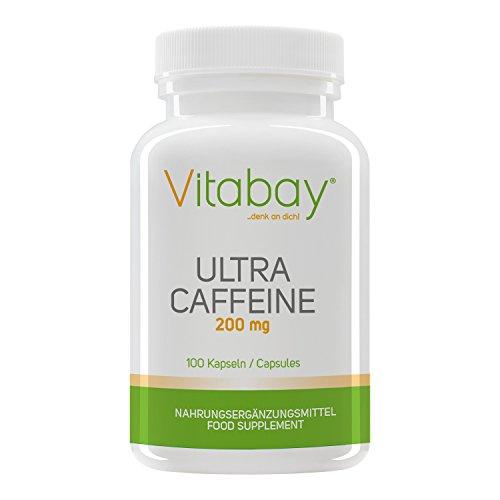 Vitabay Koffein - hochdosiert - 200 mg - 100 Kapseln