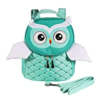 EDATOFLY 2019 New Owl Baby Walking Safety Harness Reins Toddler Rucksack Strap Child Backpack Bag for 1-4 Years Kids (Green)