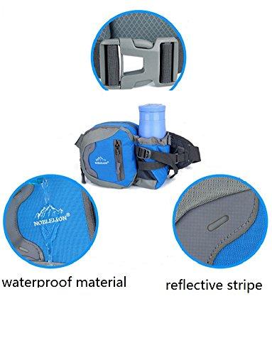 Unisex Läufer Tasche Hüfttasche Gürteltasche Schulranzen Tasche mit Flaschenhalter für Sport im Freien,Radfahren,Wandern,Camping rosarot