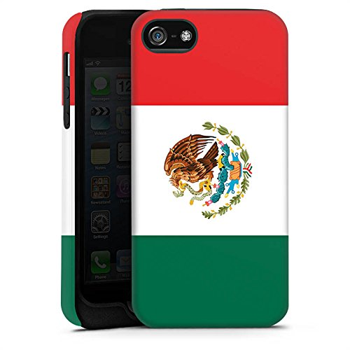 Apple iPhone 5s Housse Étui Protection Coque Mexique Drapeau Ballon de football Cas Tough terne