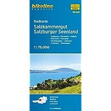 Bikeline Radkarte: Salzkammergut. Salzburg - Gmunden - Hallein - Bad Ischl - Mondsee - Wolfgangsee - Attersee - Traunsee - Tennengau, RK-A05. 1 : 75.000, wasserfest/reißfest, GPS-tauglich mit UTM-Netz