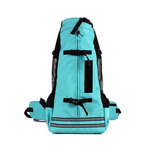 VIccoo Pet Carrier Rucksack Dot Cat Carriers für Reisen im Freien - Blau - L