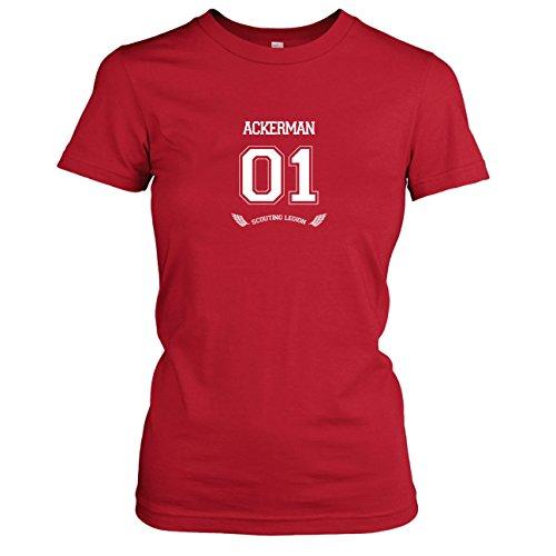 Recon Kostüm Corps - TEXLAB - Titan Ackerman - Damen T-Shirt, Größe S, rot