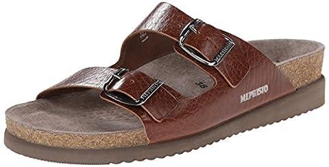 Mephisto Womens Harmony Brown Leather Sandals 39 EU