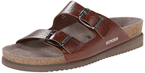 Mephisto Womens Harmony Leather Sandals Marron