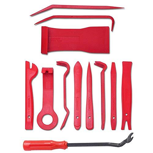 SKC 12 Pcs Auto Demontage Werkzeuge,  Universale Auto Zierleistenkeile Wagentür Reparatur Werkzeug Set für Türverkleidung Polsterung Montage Demontage