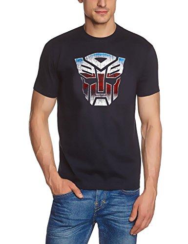 Coole-Fun-T-Shirts Herren T-Shirt Transformers Logo, Dunkelblau, M, FT301 (2 Transformers T-shirts)