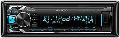 Kenwood KMM-303BT - Radio para coche (FM, Bluetooth, USB), negro
