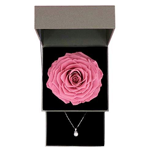 Yyzhx Giant Rose Unsterbliche Blume Valentinstag Geburtstag Geschenk Schmuck High-End Unsterbliche Blume Geschenk-Box rose -