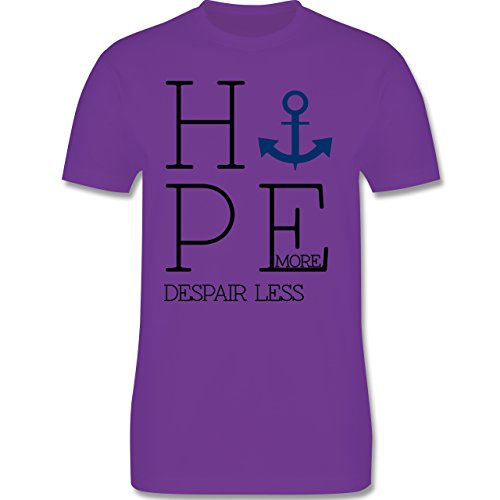 Statement Shirts - Hope more despair less - Herren Premium T-Shirt Lila