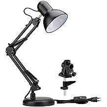 LE Lámpara de escritorio, Base y pinza incluidas, Casquillo E27, Bombilla sustituible (no incluida)