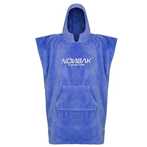 Nonbak poncho con capucha y bolsillo deportes acuáticos color azul grosor 400grs (Medium/Large)