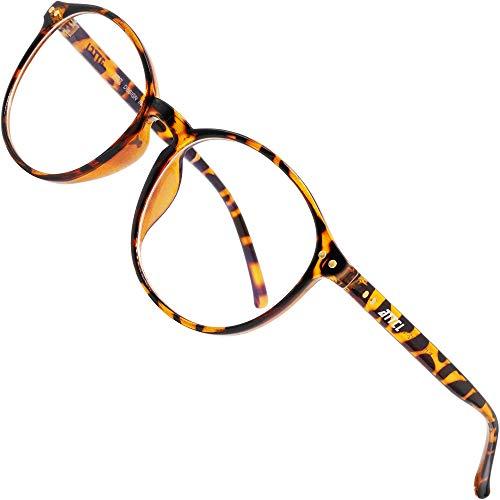 ATTCL Unisex blaulichtfilter brille computerbrille zum Blockieren von UV-Kopfschmerz [Verringerung der Augenbelastung] Gaming Brille 1133-Leopard