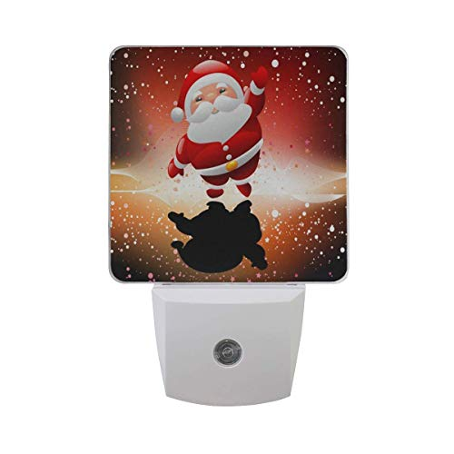 s Santa Claus Pattern Led Light Lamp for Hallway, Kitchen, Bathroom, Bedroom, Stairs, DaylightWhite, Bedroom, Compact ()