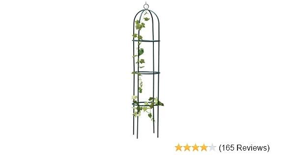 1.9M Outdoor Garden Green Metal Obelisk Climbing Plant Support Frame ...