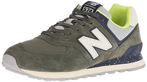 New balance 574v2, sneaker uomo, verde (dark covert green/pigment hvc), 45 eu