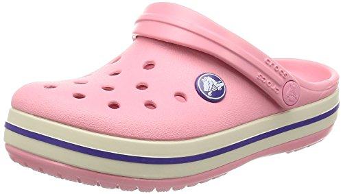 crocs Crocband Clog Kids Peony Pink/Stucco Croslite (Crocs Kinder 12 13)