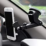 Ceuta Retails Anti-Vibration Universal Car Mount 360 Degree Rotation (Black)